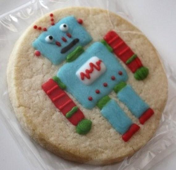 Robot Cookie Favors - one dozen