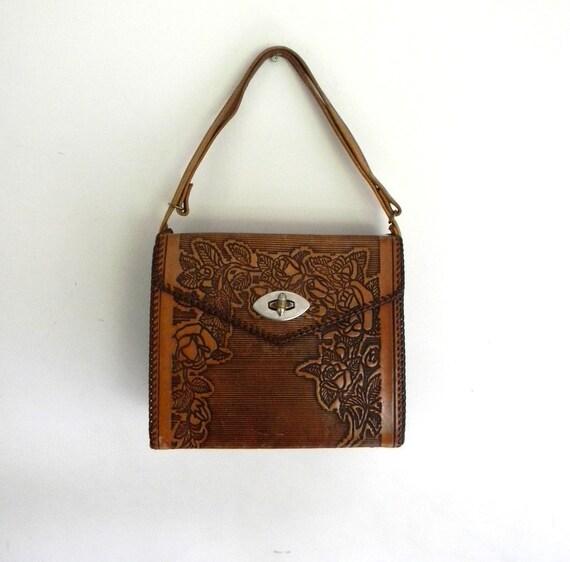 Vintage Tooled Leather Purse ON SALE
