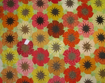 """4950 pieces in this """"Poppy Quilt"""""""