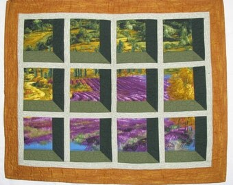 My Favorite Window Quilted Wall Hanging