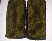 Custom listing for Seashell77 - olive green mittens for 3 years old