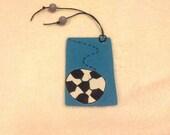 Soccer bookmark, Soccer Ball Bookmark, Sport bookmark