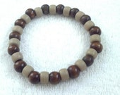 Stretchy Mens Bracelet, Men's Wood Bracelet, Stretchy Unisex Wood Bracelet