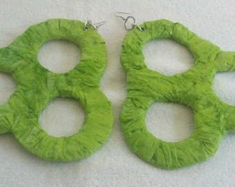 Very large earrings, large earrings, mega earrings, paper earrings, paper mache