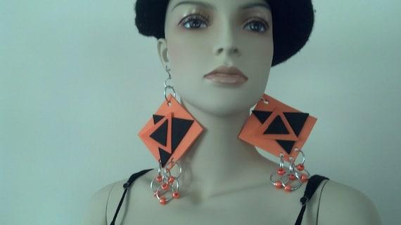 Geometric Earrings,Statement Earrings,Foam Earrings, Big Earrings, Large Earrings