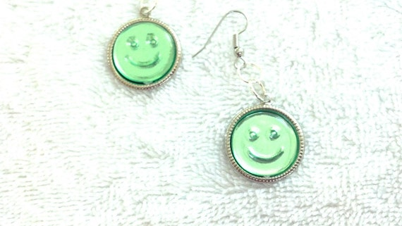 Happy Face Earrings, Smiley Face Jewelry