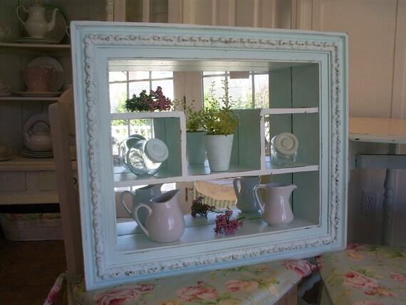 Vintage Shadow Box Mirror