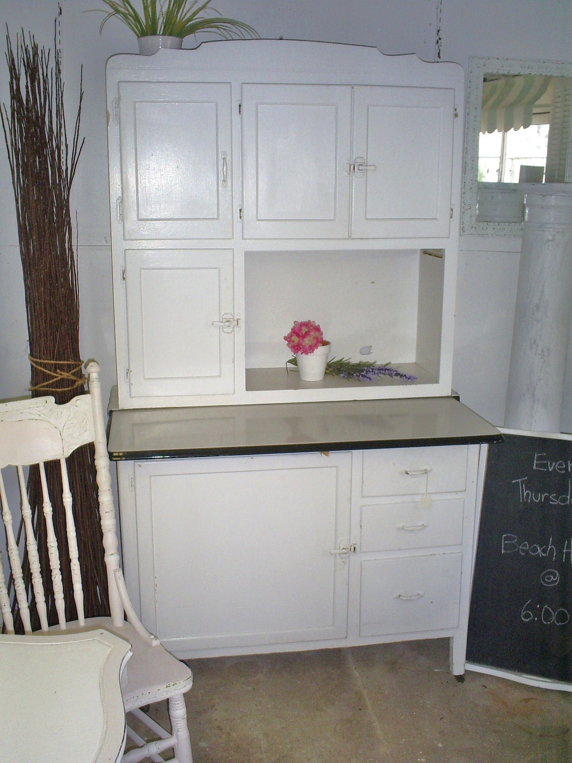 Antique hoosier cabinet kitchen by backporchco on etsy for Cabinets cupboards