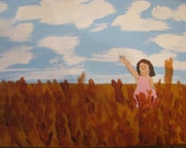 Oklahoma Wheatfield with Young Girl