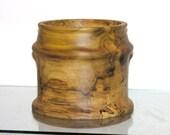 Decorative Poplar Utensil Holder hand turned, vase, bowl, kitchen counter, table,