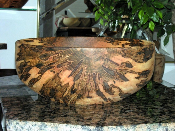 Astounding XXXLarge Ambrosia Maple  Centerpiece Bowl Hand turned brown,