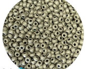 6/0 Metallic Matte Antiqued Silver Seed Beads - sold in one ounce packs - 480 beads to an ounce - approx 4.0mm diameter - Czech glass beads