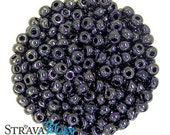 6/0 Metallic Gunmetal Seed Beads - sold in one ounce packs - 480 beads to an ounce - approx 4.0mm diameter - Czech glass beads