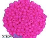 5 Ounces 6/0 Fuchsia Pink Czech Glass Seed Beads