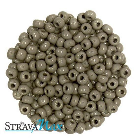 5 Ounces 6/0 Medium Grey Czech Glass Seed Beads