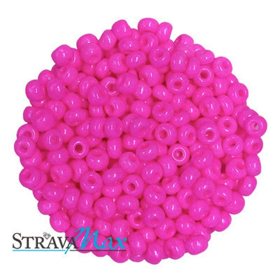 5 Ounces 6/0 Fuchsia Pink Czech Glass Seed Beads