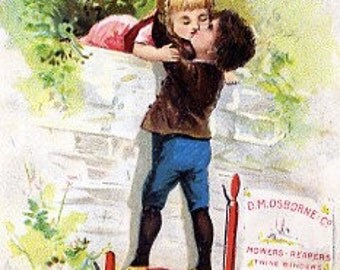 8x10 Print  - Kiss From Top of a Tractor