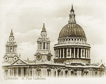 Package of 12 Blank Note Cards,  St. Paul's Cathedral, London