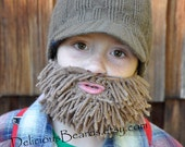 Light Brown Yarn Beard (youth)