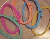 reserved listing for - mayukino - Hoop-La Plastic Embroidery Hoops 3 inch X 5 inch