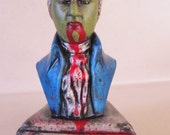 Re purposed Zombie Mozart Composer bust/statue