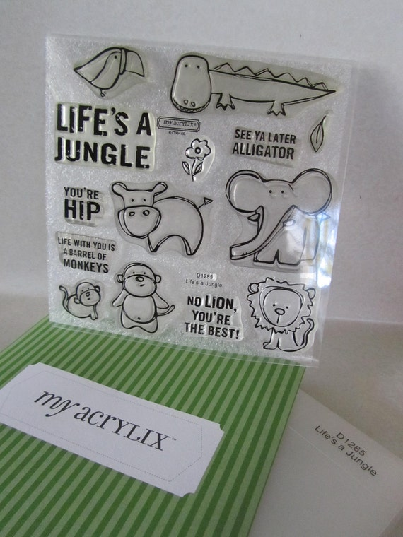 Close To My Heart Rubber Stamp set  Life's a Jungle retired