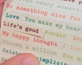 Typewriter Text/Journey Word Stickers