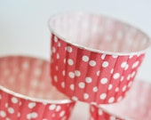 Red Polka Dot Baking, Candy, or Portion Cup