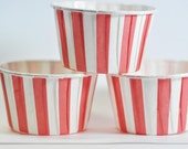 Red Stripe Baking, Candy, or Portion Cup