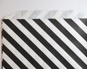 Candy Bags - Black and White Stripe