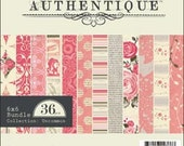"""Pink Shabby Chic Patterned Paper 6x6"""""""