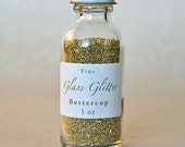 Gold Glass Glitter In Apothecary Bottle 1oz