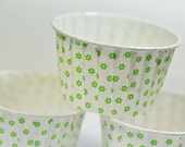 24 Green Flower Baking, Candy, or Portion Cup