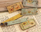 Wooden Tickets and Flags Sun Kiss - Prima