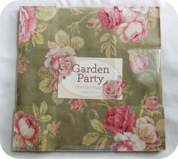 garden party layer cake by blackbird designs for moda