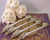 Vintage French Shabby Chic Drawer Pulls  Set of Four