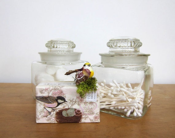 Vintage Apothecary Jars Glass Canisters