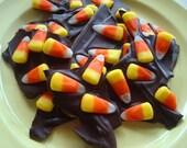 Chocolate Candy Corn Bark mmmm