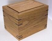 White Oak  with Walnut keys Box