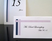 Wedding Reception Name Place Card Modern Lines