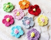 Single Crochet-Small Flowers  S 9805