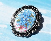 Forget Me Not-Brooch-Necklace  R 9678