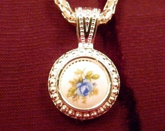 Just Right For You-Blue Rose-Necklace R 8141