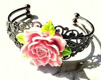 Victorian-Flower Of Love-Cuff-Bracelet  R 9693