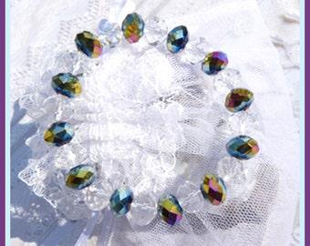 Multi Jewel Swarovski Crystal-Bracelet  Sparkling Gift U 5332