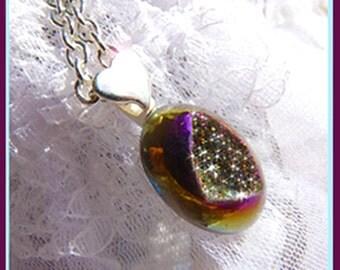 Diamonds In The Sky -Titanium Druzy Crystal- Necklace  Gift Idea  U 5365