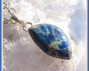 Deep Blue Sea Jasper- Necklace  U 5428