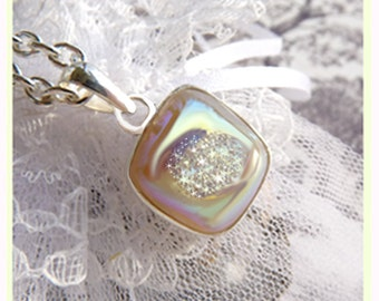 Sparkling Si Opal Titanium Druzy- Necklace  U 5446