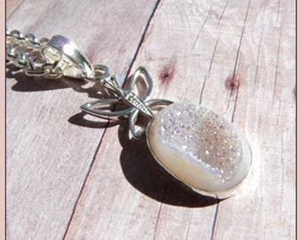 Butterfly Druzy - Si Opal Druzy - Necklace  B 6368