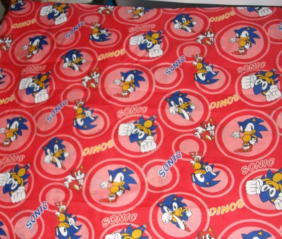 Sonic Circle Red  Fabric Yardage ...OOP